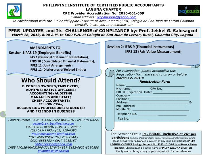 PHILIPPINE INSTITUTE OF CERTIFIED PUBLIC ACCOUNTANTS