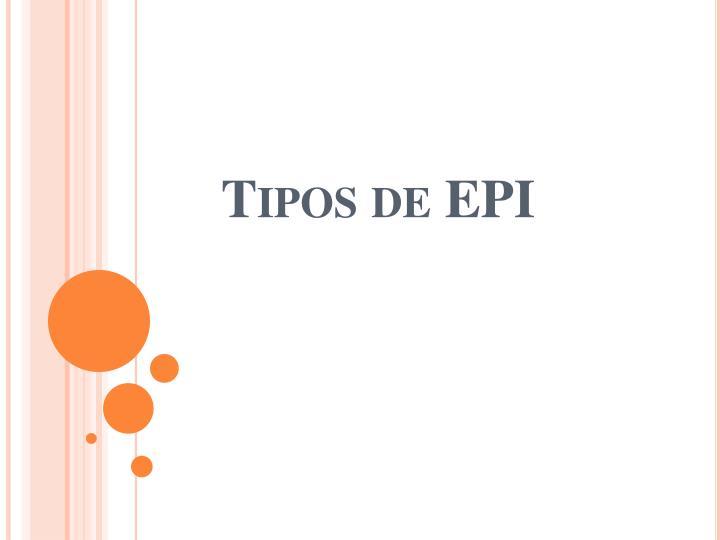 Tipos de EPI