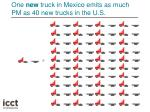 one new truck in mexico emits as much pm as 40 new trucks in the u s