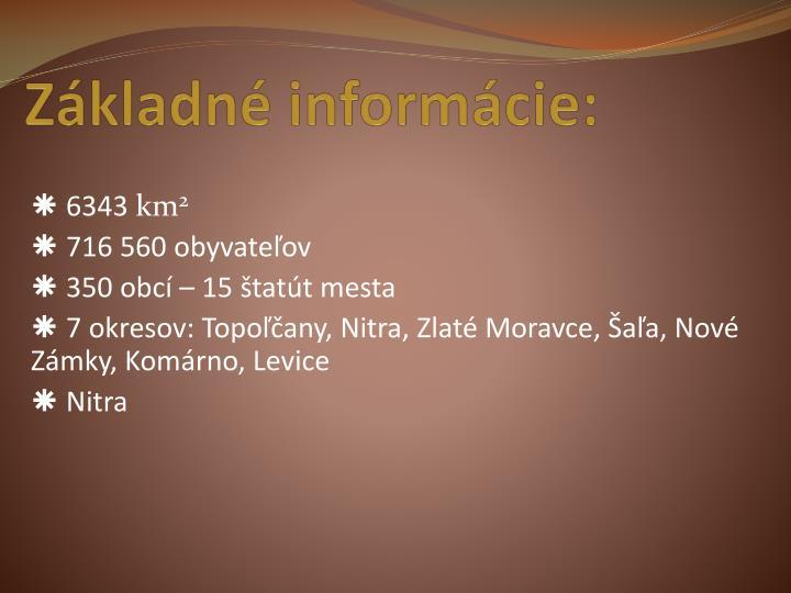 Základné informácie: