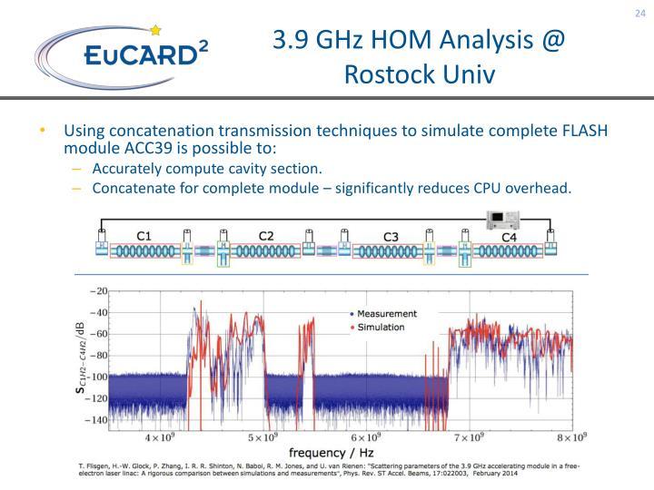 3.9 GHz HOM Analysis @ Rostock