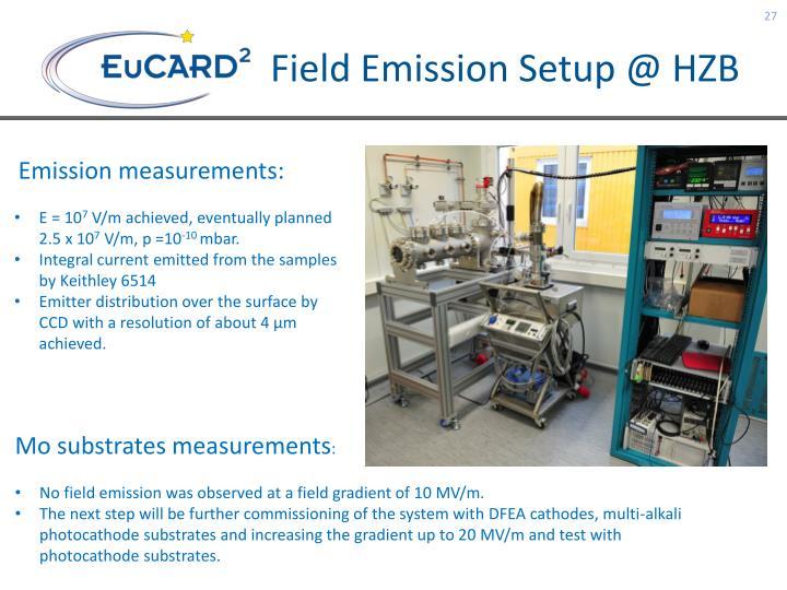 Field Emission Setup @ HZB