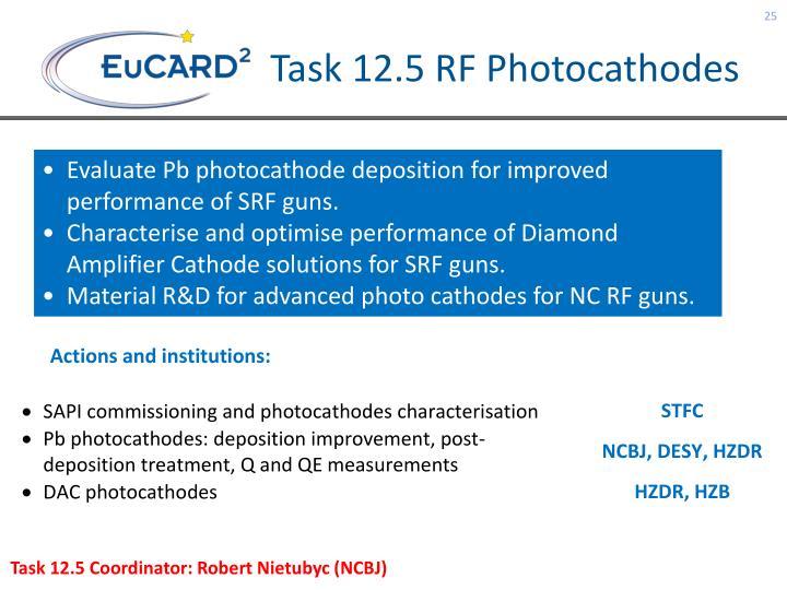 Task 12.5 RF Photocathodes