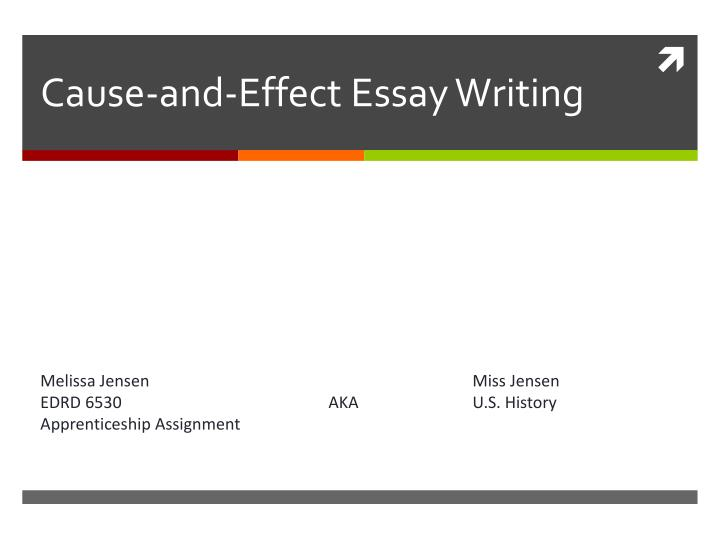 cause or effect essay Struggling to write your cause and effect essay save yourself some anguish with these cause and effect essay topics to get you started.