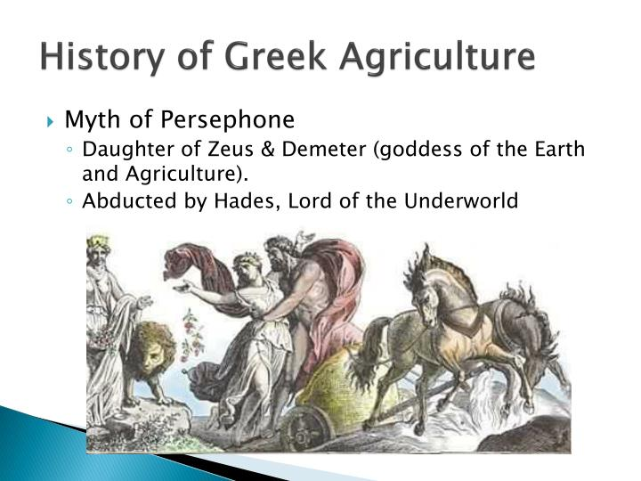 History of Greek Agriculture