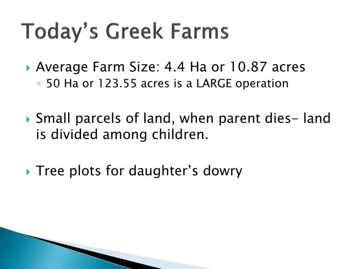 Today's Greek Farms
