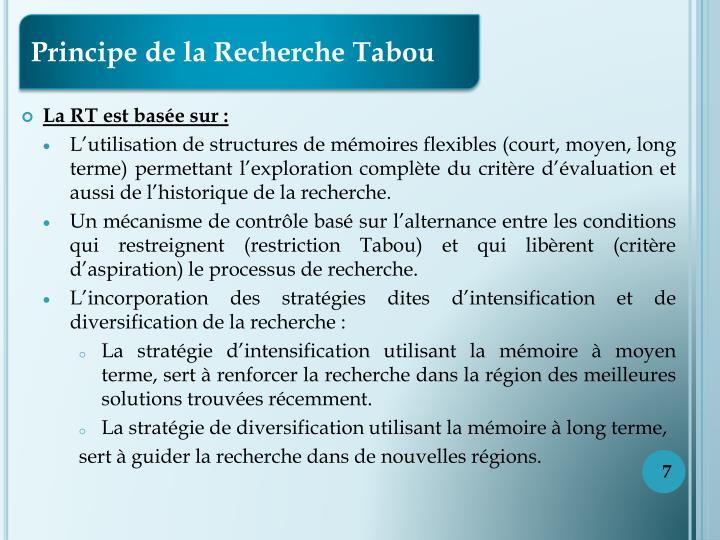 Principe de la Recherche Tabou