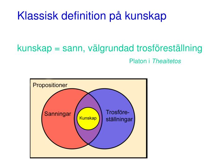 Klassisk definition p