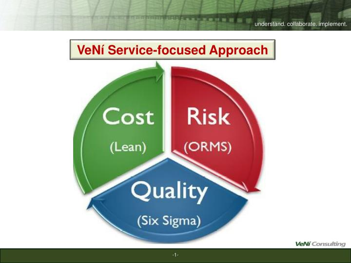 VeNí Service-focused Approach