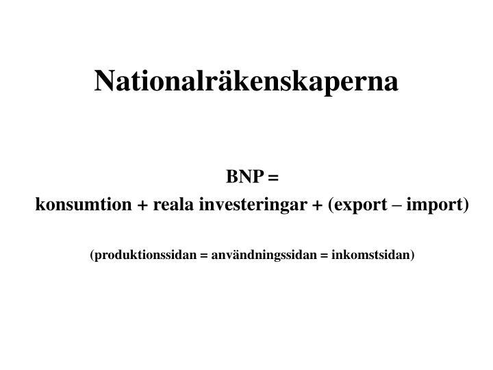 Nationalräkenskaperna