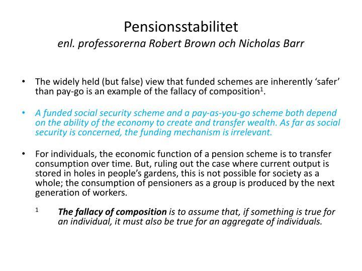 Pensionsstabilitet