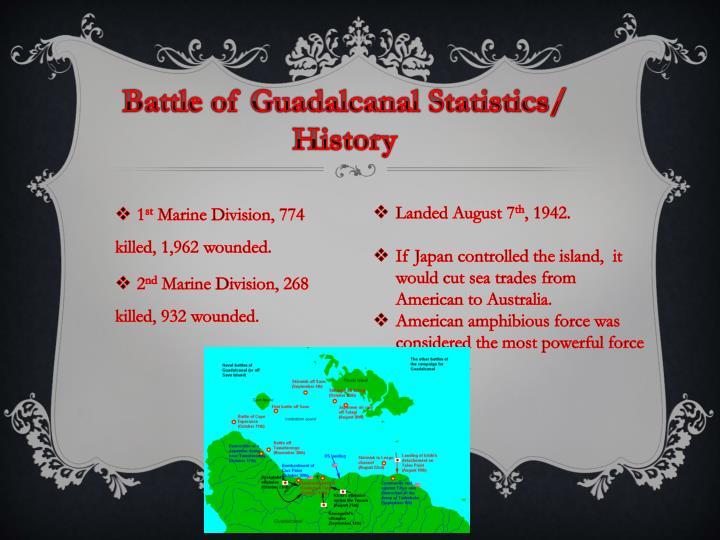 Battle of Guadalcanal Statistics/ History