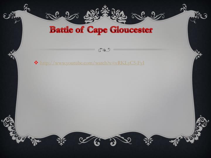 Battle of Cape Gloucester