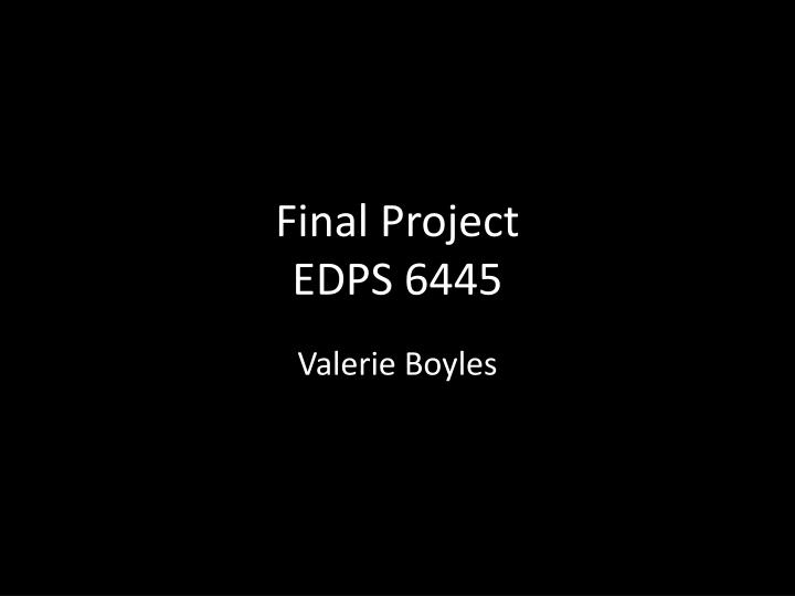 Final project edps 6445