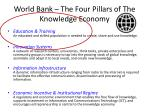 world bank the four pillars of the knowledge economy