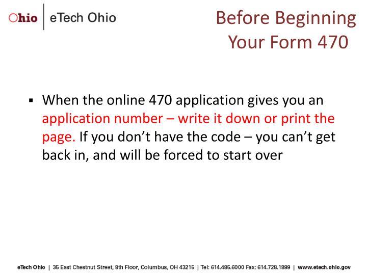 Before Beginning