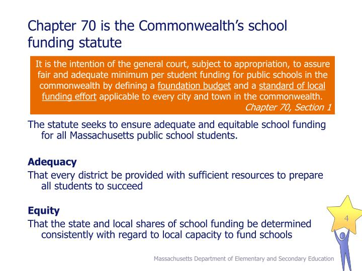 Chapter 70 is the Commonwealth's school funding statute