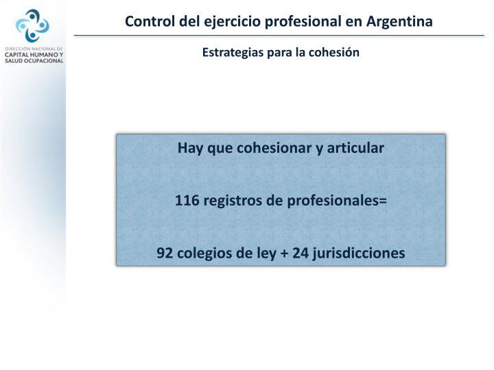 Control del ejercicio profesional en Argentina