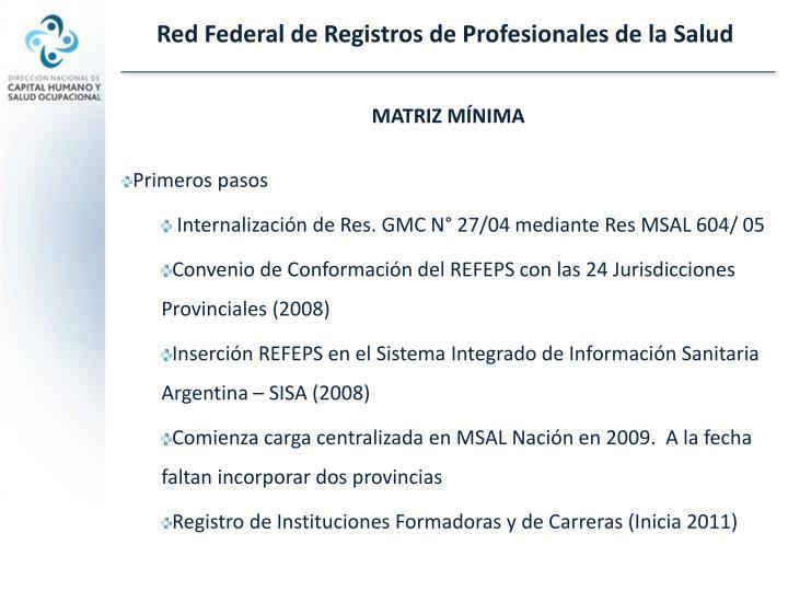 Red Federal de Registros de Profesionales de la Salud