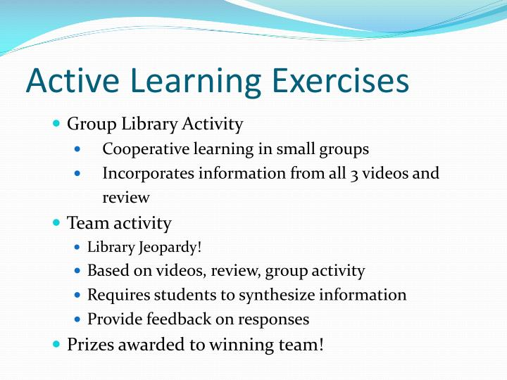 Active Learning Exercises