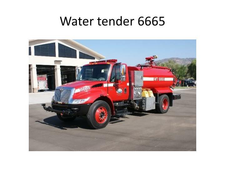 Water tender 6665