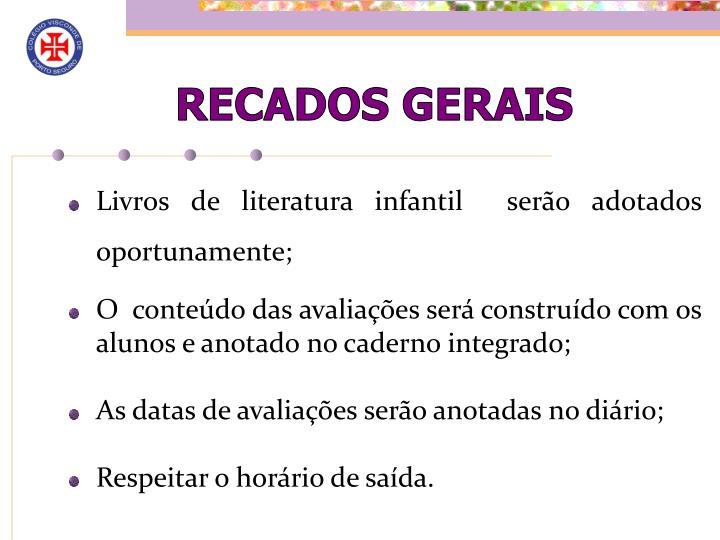 RECADOS GERAIS