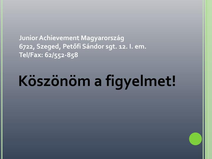 Junior Achievement Magyarország