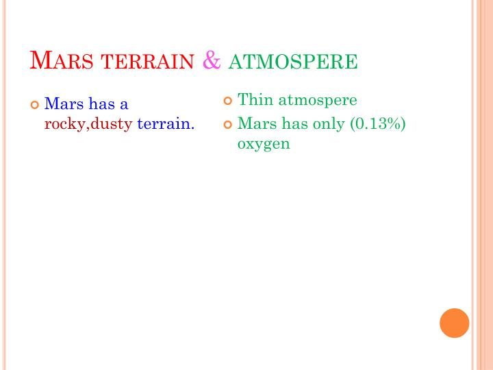 Mars terrain