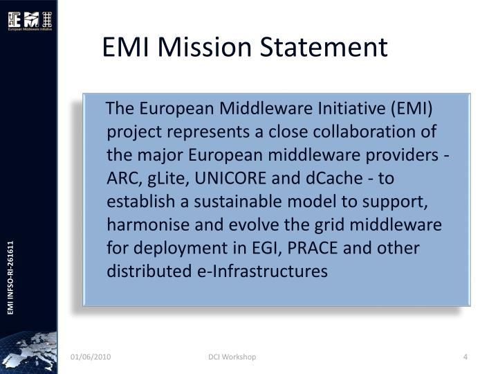 EMI Mission Statement