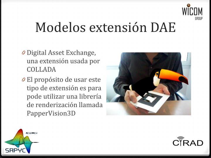 Modelos extensión DAE