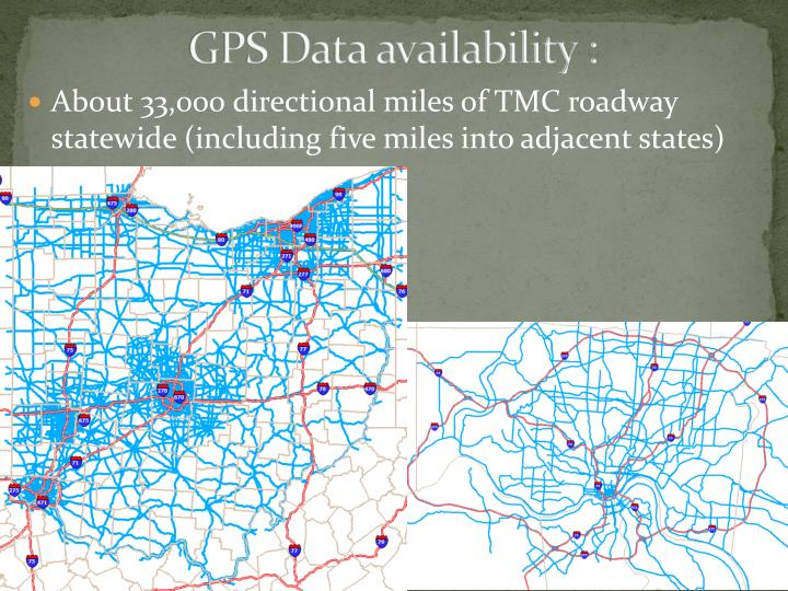 GPS Data availability :