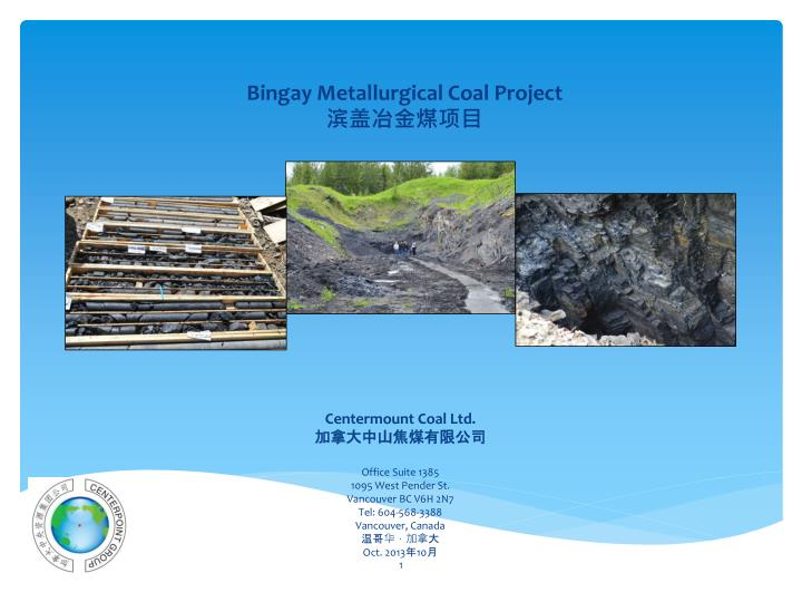 Bingay metallurgical coal project