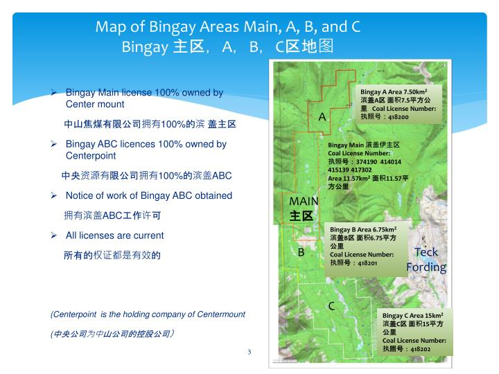 Map of bingay areas main a b and c bingay a b c