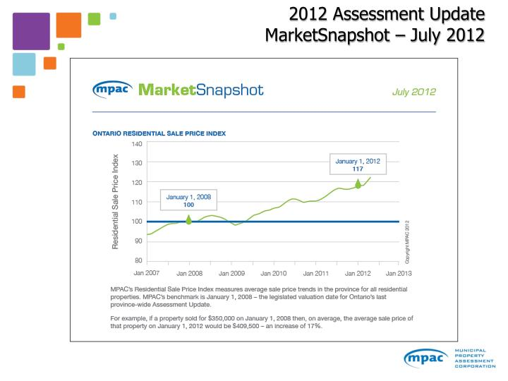 2012 Assessment Update