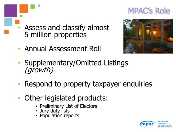 MPAC's Role
