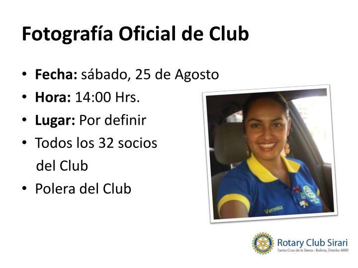 Fotografía Oficial de Club