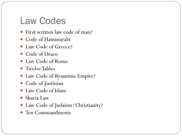 Law Codes