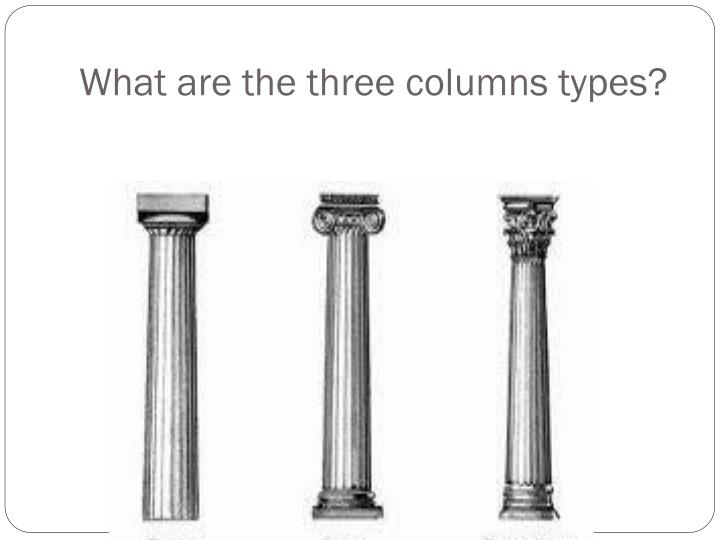 What are the three columns types?