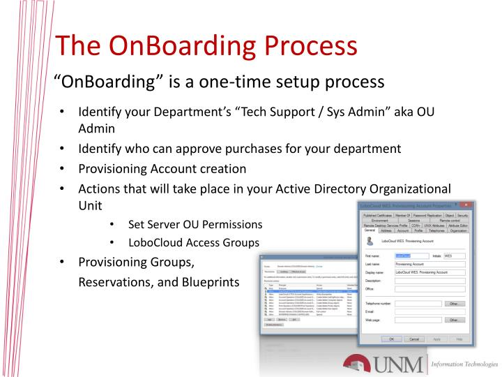 The OnBoarding Process