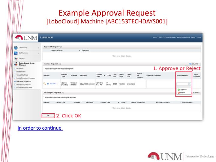 Example Approval
