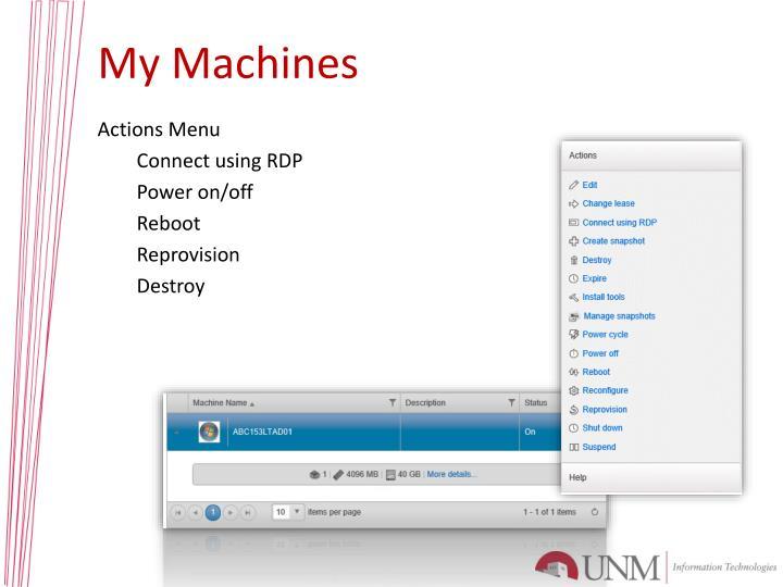 My Machines
