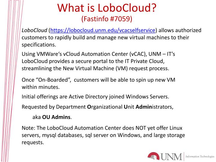 What is LoboCloud?