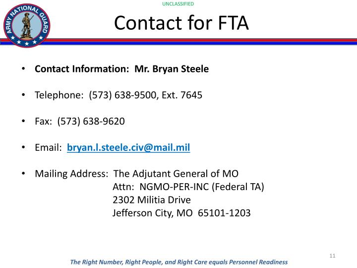 Contact for FTA