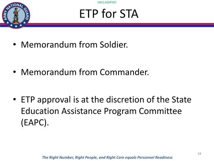 ETP for STA