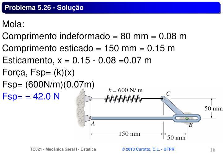 Problema 5.26 - Solução