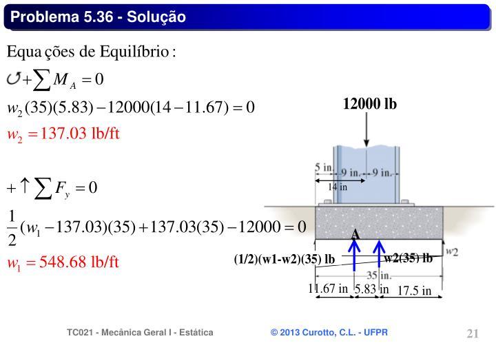 Problema 5.36 - Solução