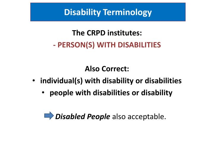 Disability Terminology