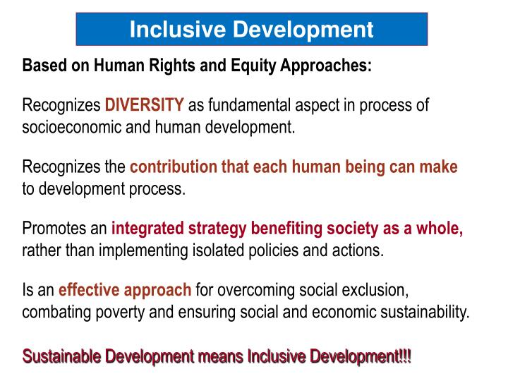 Inclusive Development