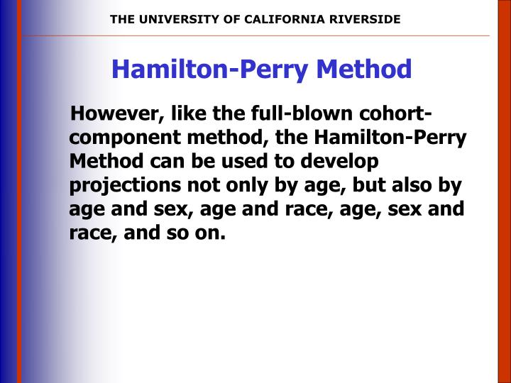 Hamilton-Perry Method