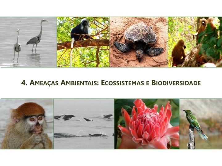 4. Ameaças Ambientais: Ecossistemas e Biodiversidade